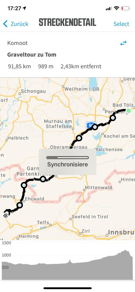 Bikepacking Route planen Route synchronisieren Wahoo App