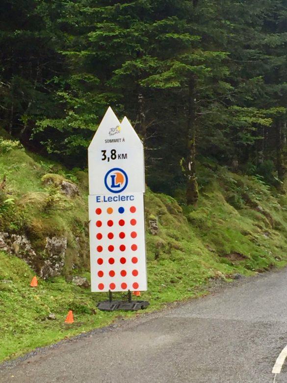 Schilder der Tour de France - Pyrenäen Durchquerung Rennrad