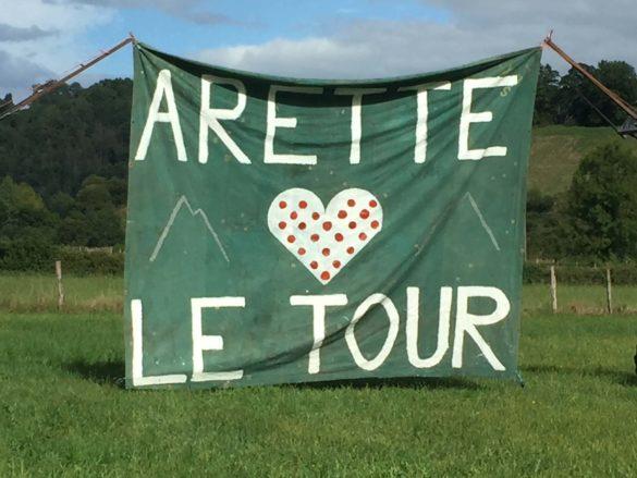 Tour de France Schild - Pyrenäen Durchquerung Rennrad