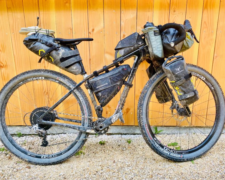BikePackingTransgermany Taschen Set Up