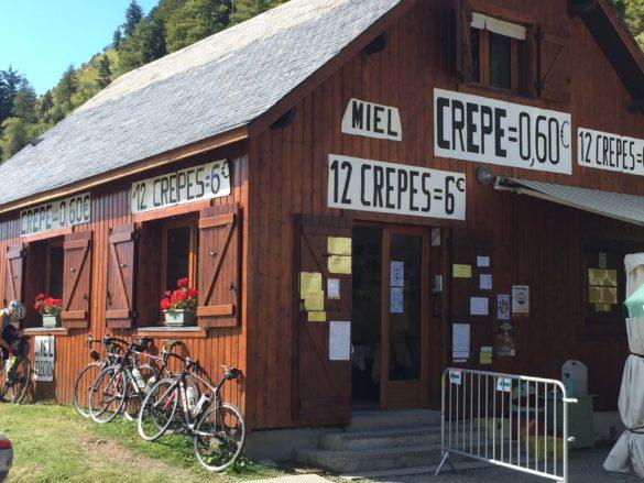 Die Crêpes Bude am Col de Peyresourde - Pyrenäen Durchquerung Rennrad