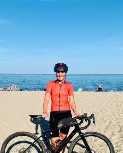 Sara am MIttelmeer - Pyrenäen Durchquerung Rennrad