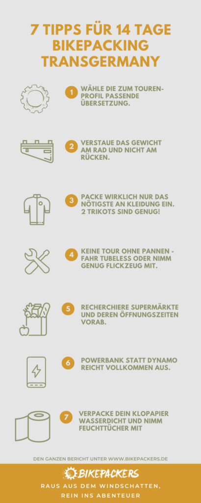 7 Tipps für 14 Tage Bikepacking Transgermany Abenteuer