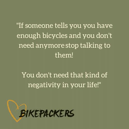 Zitat: Du kannst nicht genügend Fahrräder haben